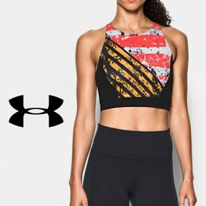 NEW Under Armour Mirror Printed Crop Top Sz M